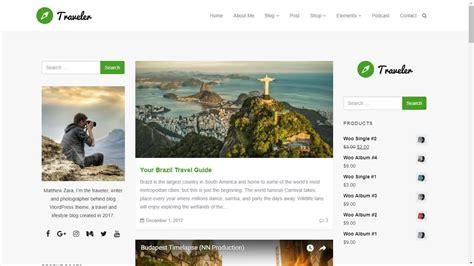 WordPress Blog Site Builder   Traveler WordPress Theme ...