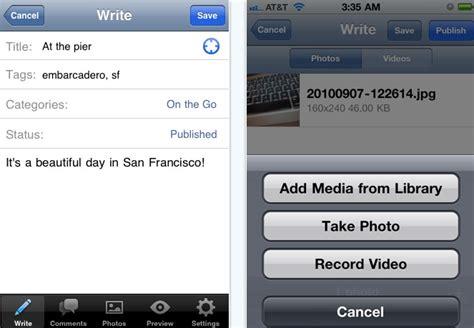 WordPress para iPhone y iPad v2.6