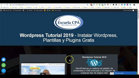 Wordpress Tutorial 2019   Instalar Wordpress, Plantillas y ...