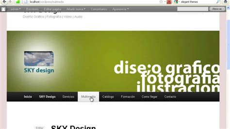 Wordpress Tutorial Español   Crear página de inicio y ...