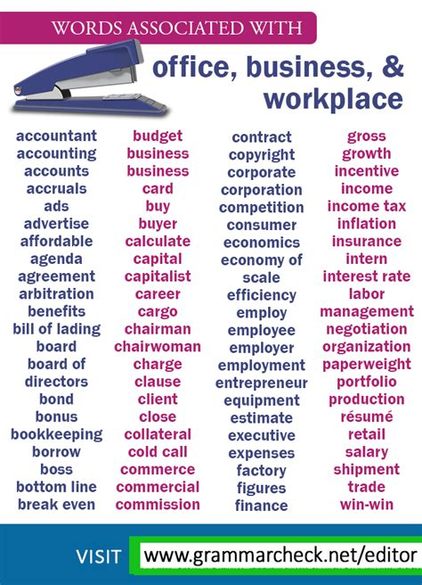 Words associated with #office, #business, and #workplace ...