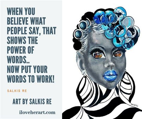 Words have power and meaning   Afro hair art, African art ...