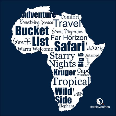 Words we love when describing our beautiful home #Africa ...