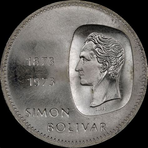 World Coins: Venezuela 1973 10 Bolivares   NGC