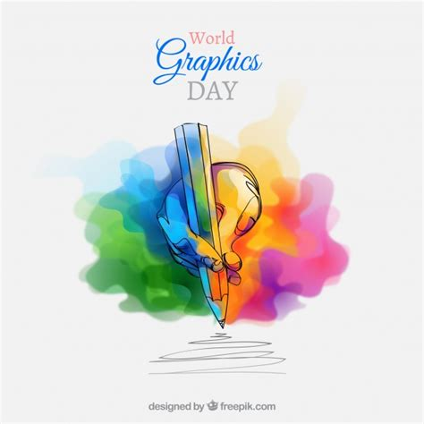 World graphics day background Vector | Free Download