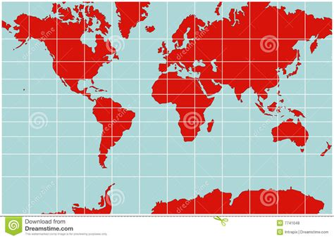 World Map   Mercator Projection Royalty Free Stock Photos ...
