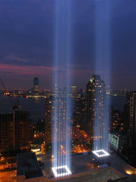 World trade center, 9/11 memorials   Blue Image