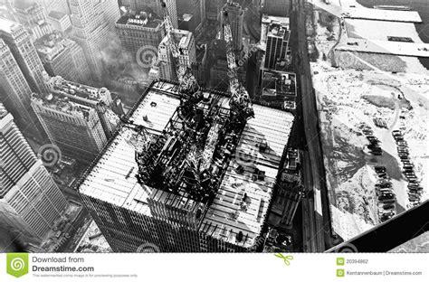 World Trade Center Construction 1971 Stock Photo   Image ...