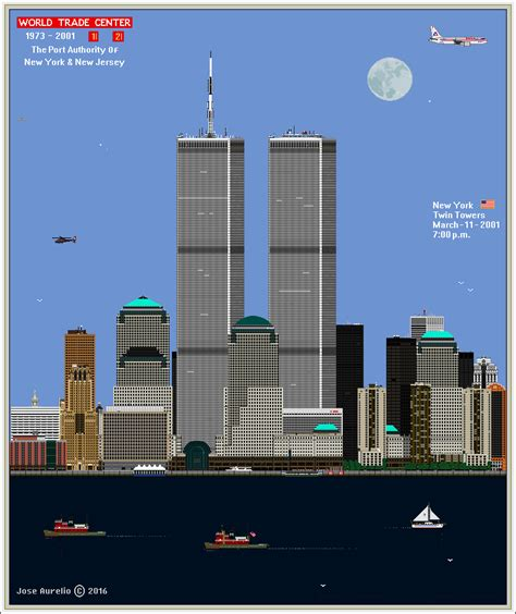 WORLD TRADE CENTER TWIN TOWERS 1973   2001 by ...