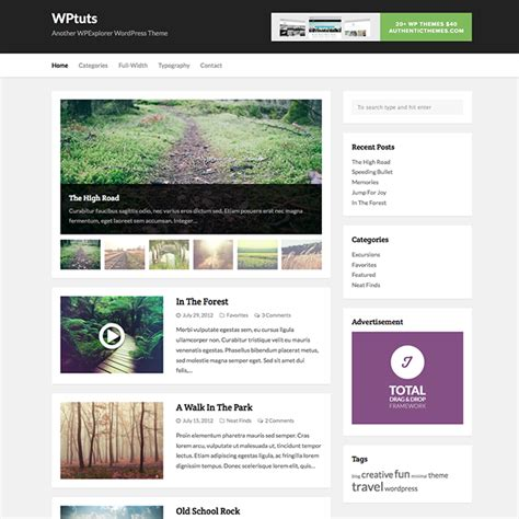 WPTuts Free WordPress Theme   WPExplorer