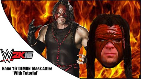 WWE 2K16:  Demon  Kane Attire Formula   YouTube