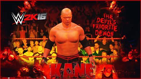 WWE 2K16   Kane 2008   CAW Formula+Entrance & Finisher ...