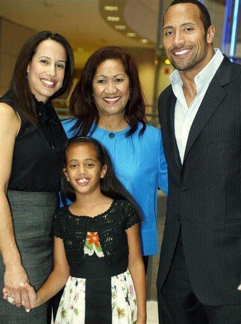 WWE Dwayne Johnson With His Family