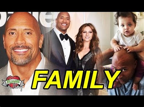 WWE The ROCK Dwayne Johnson Family With Parents, Wife ...