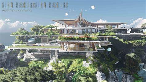 Xalima Island   House near water, Futuristic home, Mansion ...