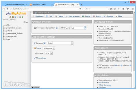 XAMPP 7.2.6 Descargar para Windows / FileHorse.com