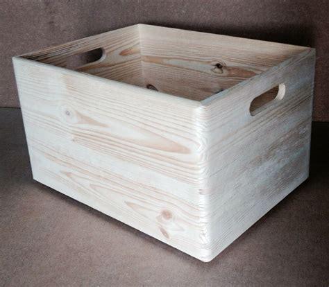 XL plain wood wooden open storage box 40x30x24 DD166 case ...