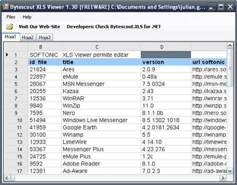 XLS Viewer   Descargar