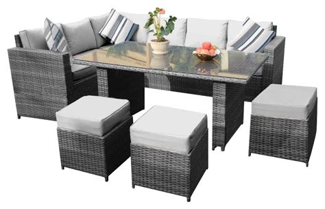 YAKOE Conjunto de mobiliario de mimbre para jardín, gama ...