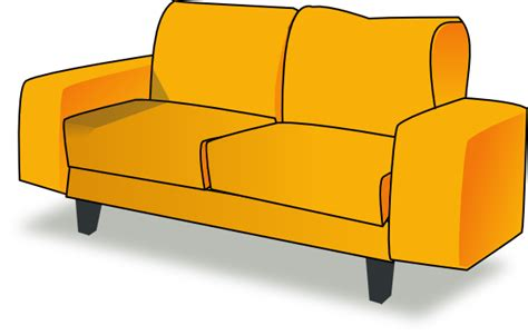 Yellow Couch Clip Art at Clker.com   vector clip art ...