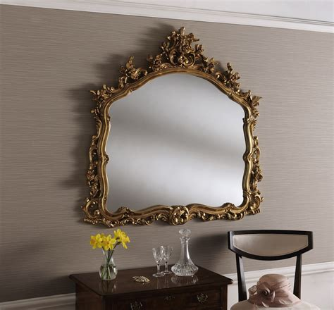 YG204 Large Silver Decorative Wall Mirror Overmantle ...