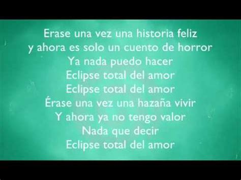 Yuridia ft Patricio Eclipse total del amor letra   YouTube