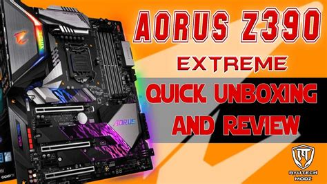 Z390 Auros Extreme motherboard Unboxing and Review   YouTube