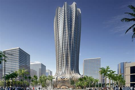 zaha hadid architects lusail city plans for hotel building