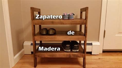 Zapatero de Madera Rustico   YouTube