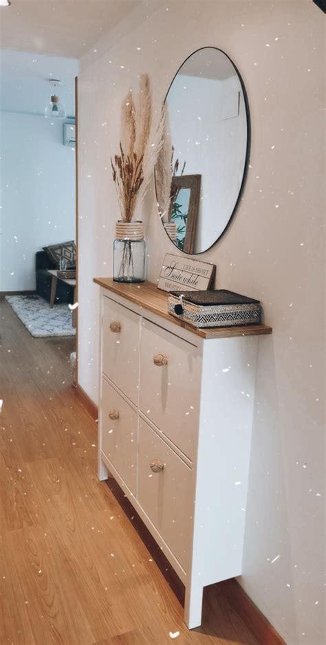 Zapatero Hemnes Ikea | Decoración de la entrada de casa ...