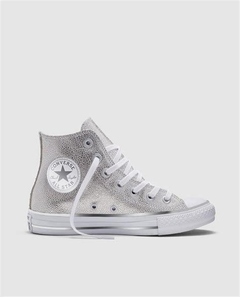 Zapatillas de lona de mujer Converse en color plata de ...