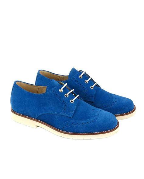 Zapato blucher ceremonia niño Maria catalan color azulon