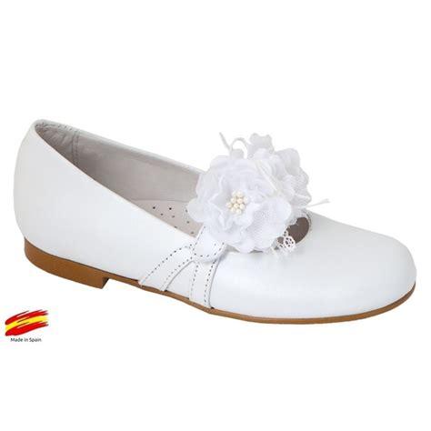Zapato Comunión Ceremónia de Niña Piel Blanco.   Ziwi Shoes