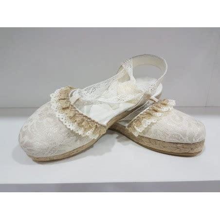 Zapato comunión niña esparto cuerda Número niña 31