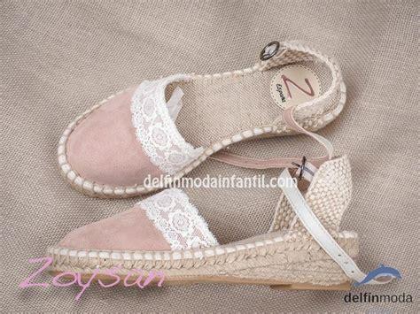 Zapato de Comunión ZOYSAN esparteña lisa rosa palo en 2020 ...