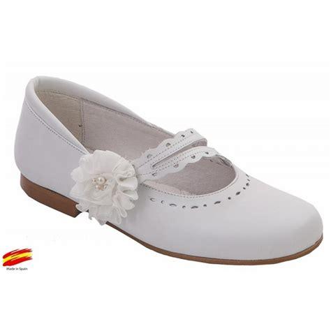 Zapato De Niña Comunión Ceremónia Piel Blanco.   Ziwi Shoes