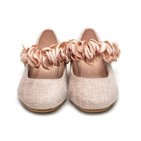 Zapatos Comunion Niña Rosa Modelo Tiara