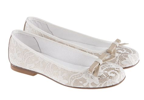 Zapatos Niña Comunión 370 805 ENCAJE   Maria Catalán