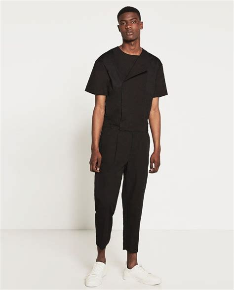 ZARA   NEW IN   DARK JUMPSUIT in 2019 | New mens fashion ...