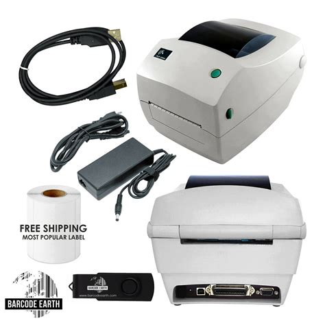 Zebra TLP 2844 TLP2844 Label Thermal Printer With Power ...