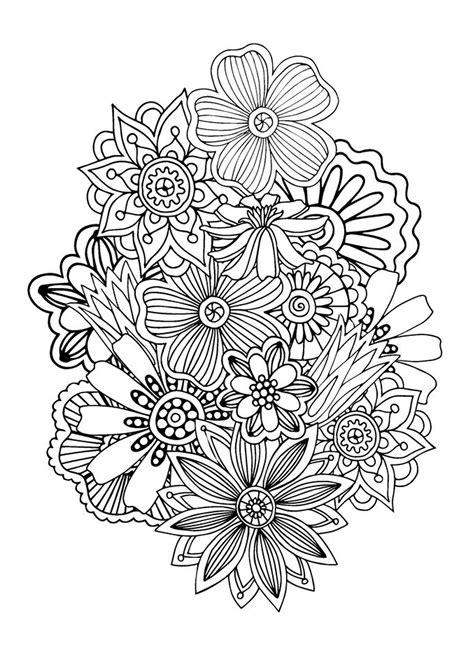 Zen antistress motif abstrait inspiration florale 1 par ...