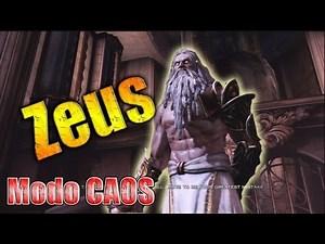 Zeus en modo CAOS  Chaos  // Como derrotar a Zeus GOW3  Kratos vs Zeus