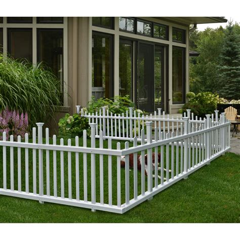 Zippity Outdoor Products Madison No Dig Vinyl Picket ...