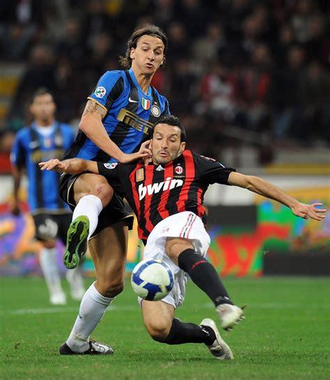 Zlatan Ibrahimovic in AC Milan v FC Inter Milan   Serie A ...