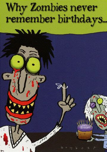 Zombie Birthday Funny Belated Birthday Card   Greeting ...