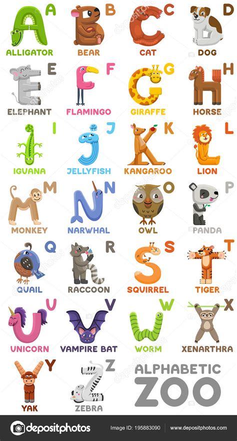 Zoo Alphabet. Tier Alphabet. Buchstaben von A bis Z ...