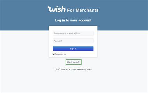 Zurücksetzen von Passwort und Login Hilfe FAQ – Wish für ...